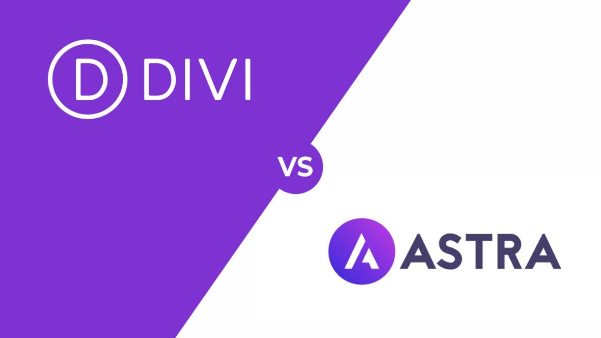 Divi vs Astra, featured image