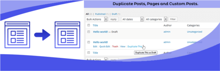 The Duplicate Page plugin.