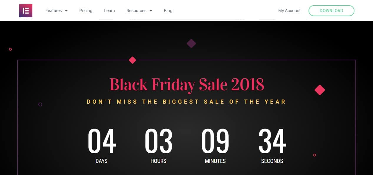Elementor Black Friday