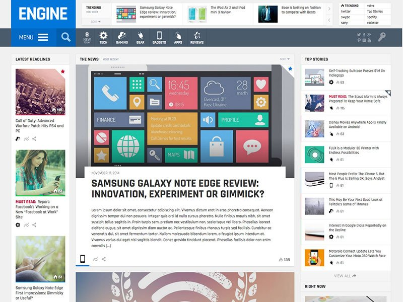 engine-magazine-theme