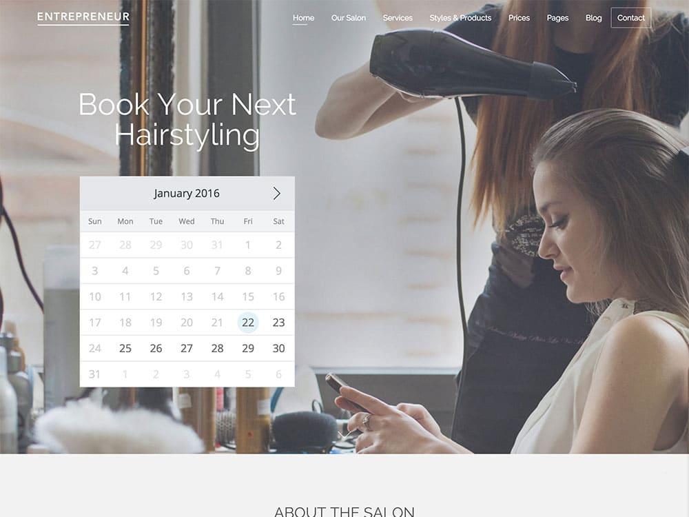 entrepreneur-booking-theme-stylist