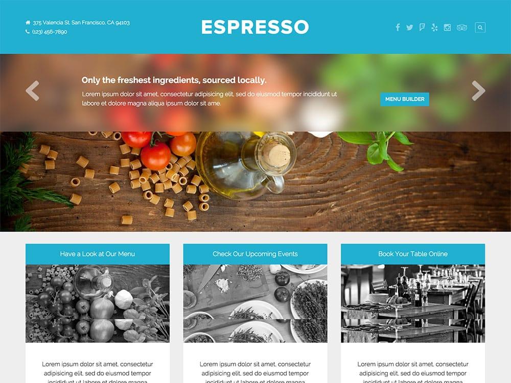 espresso-restaurant-theme