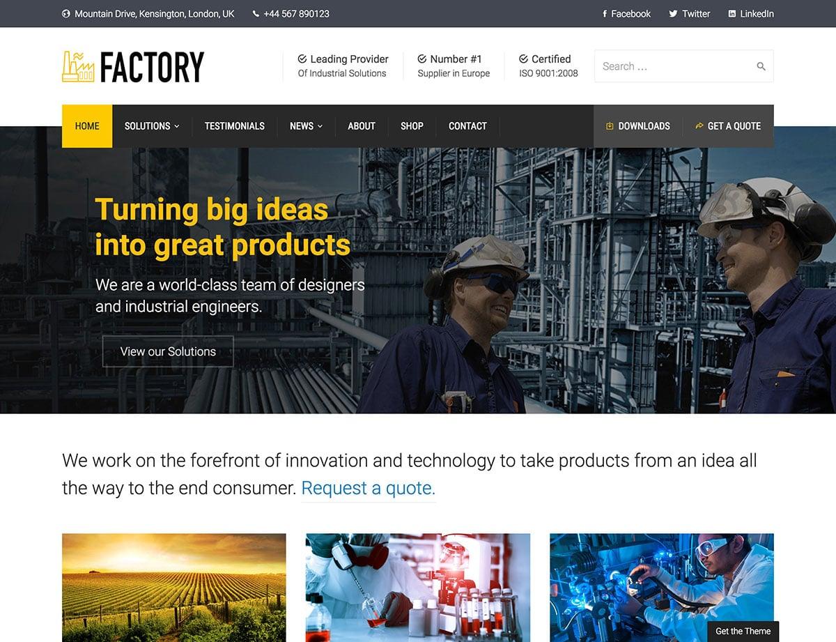 factory-industrial-wordpress-theme