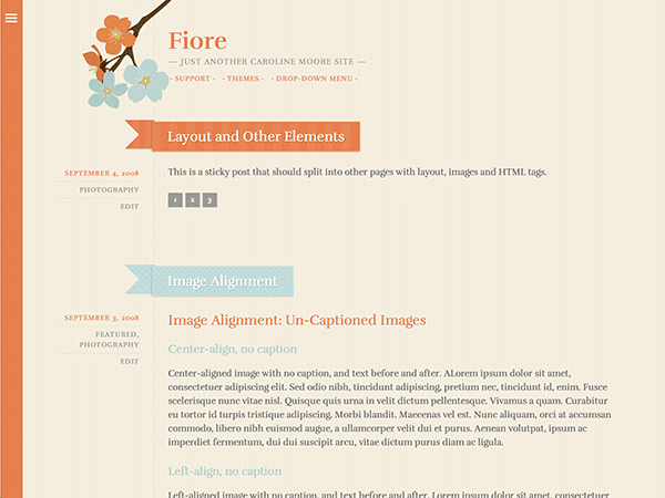 fiore theme