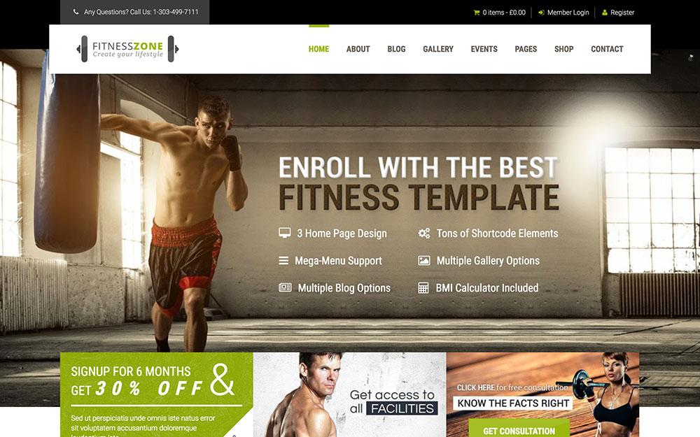 fitness-zone-theme