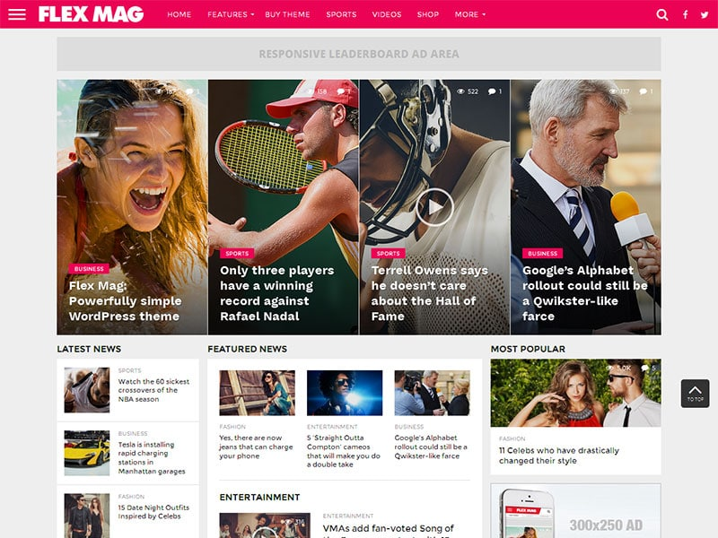 flex mag theme wordpress