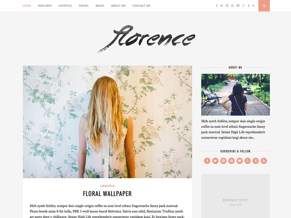 florence-wordpress-blog-theme
