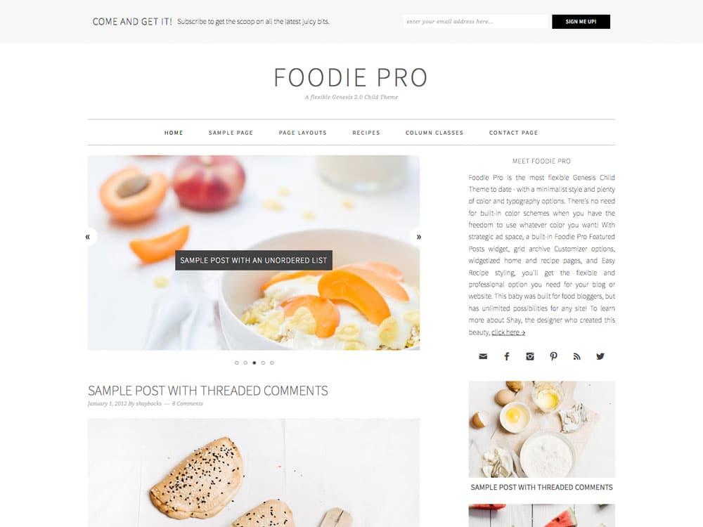 theme foodie pro