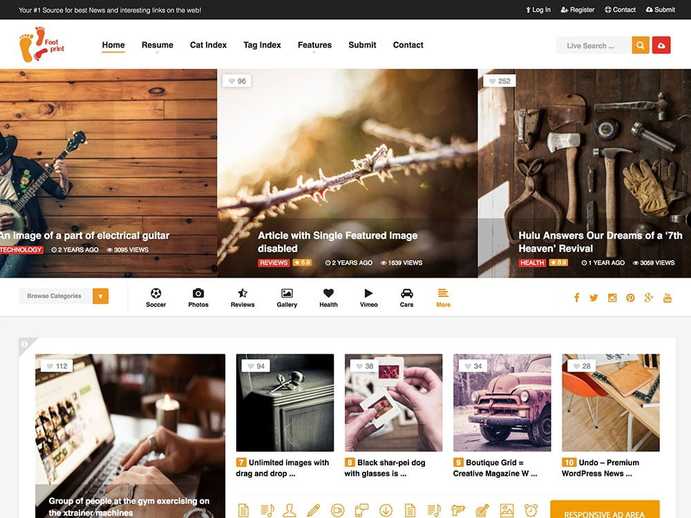 foot-content-sharing-wordpress-theme