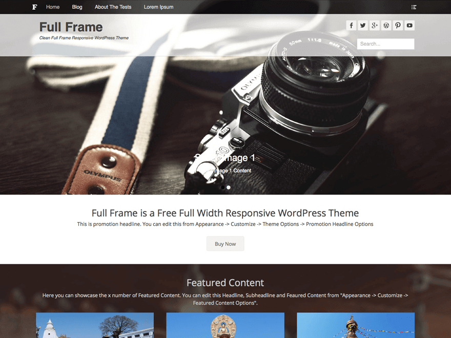full frame wordpress theme