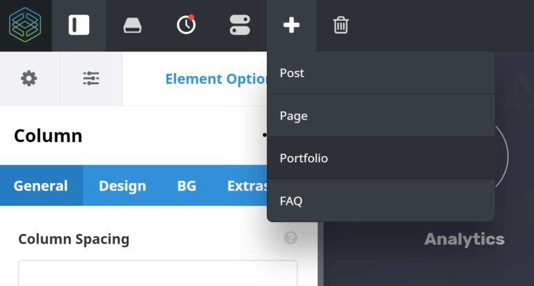 Add New Content in Fusion Builder