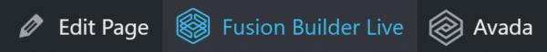 Fusion Builder Live WordPress Toolbar