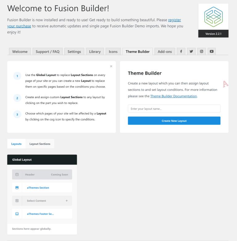 Fusion Builder Theme Builder