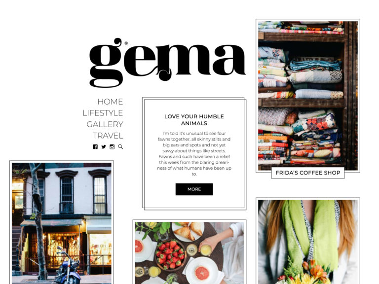 gema feminine personal blog wordpress theme