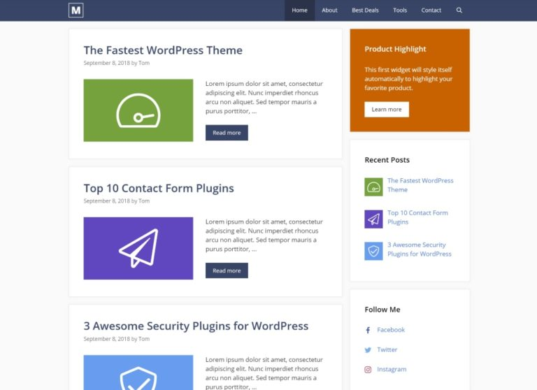 Generatepress is one of the fastest WordPress themes