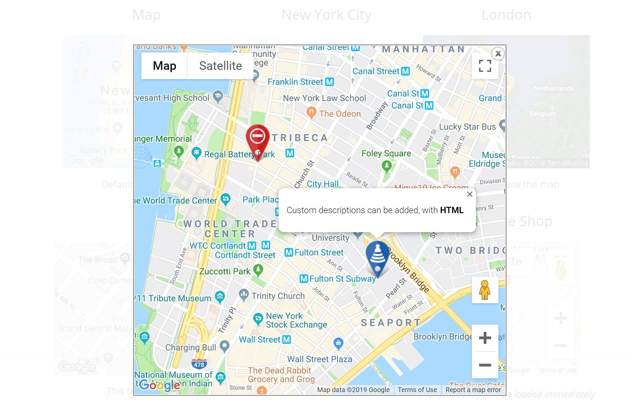 Google Maps Widget example