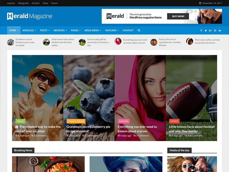 Herald theme magazine wordpress