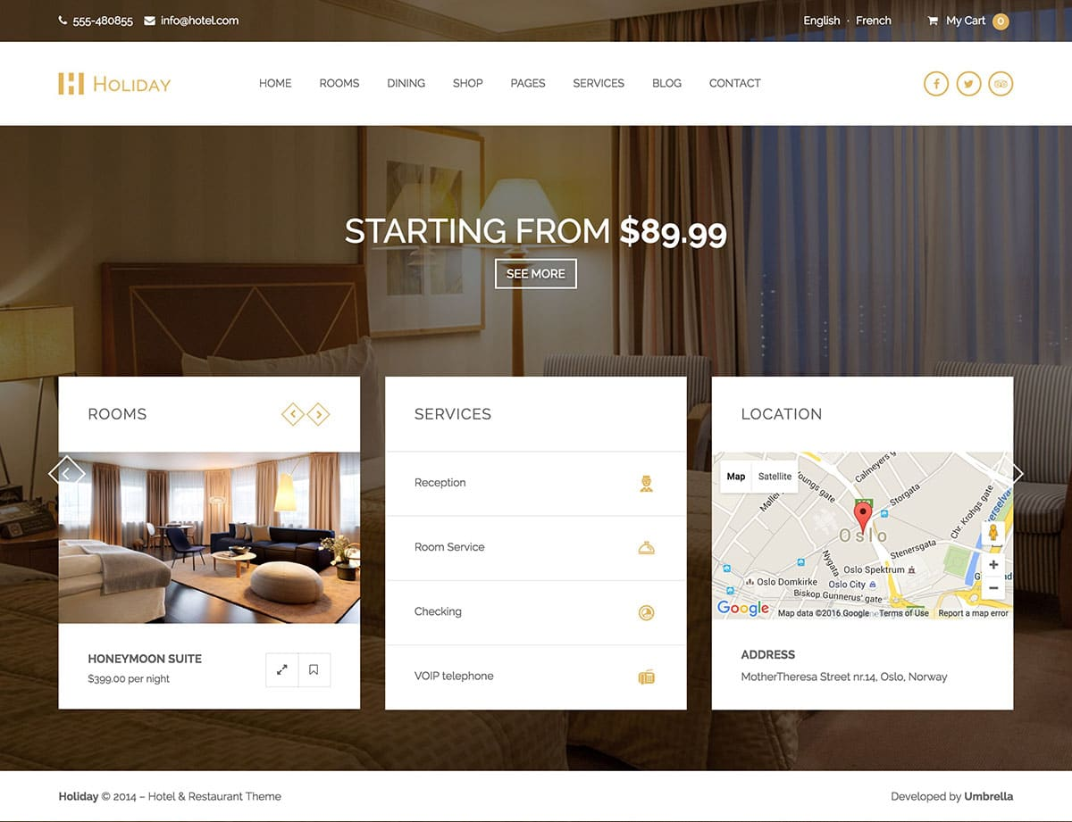 35 best hotel wordpress themes 2016 athemes for If page template wordpress