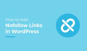 How to add nofollow links in WordPress, featured image