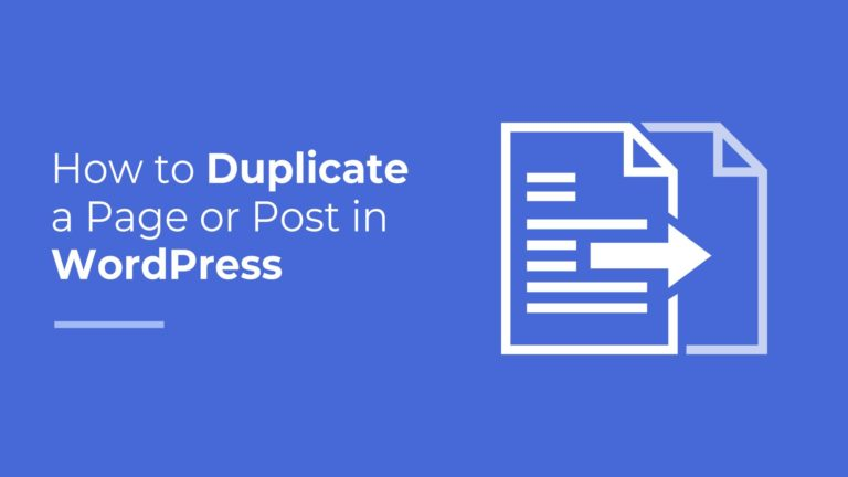 How to Duplicate a Page or Post in WordPress, featured image