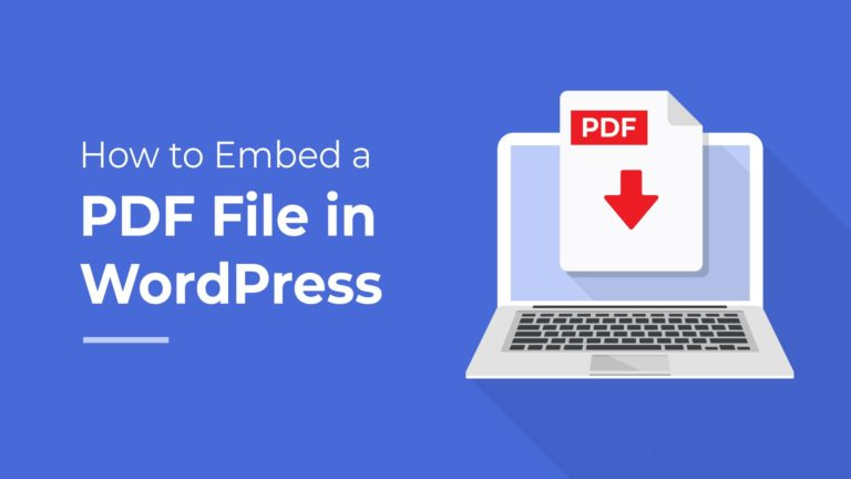 How to Embed a PDF file in WordPress, featured image