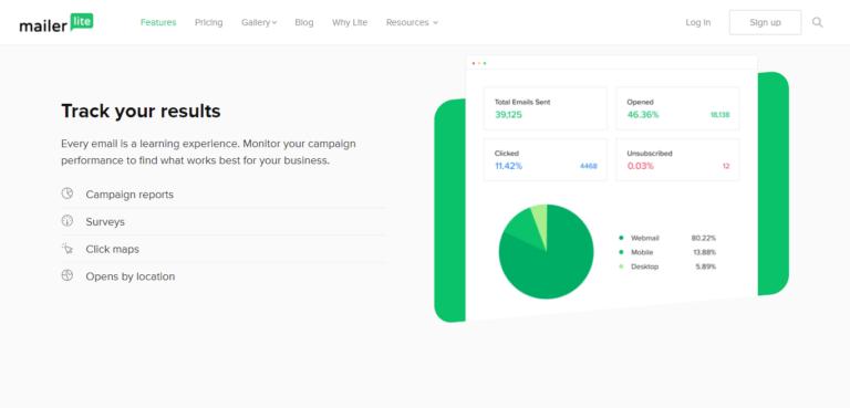 MailerLite reporting and analytics