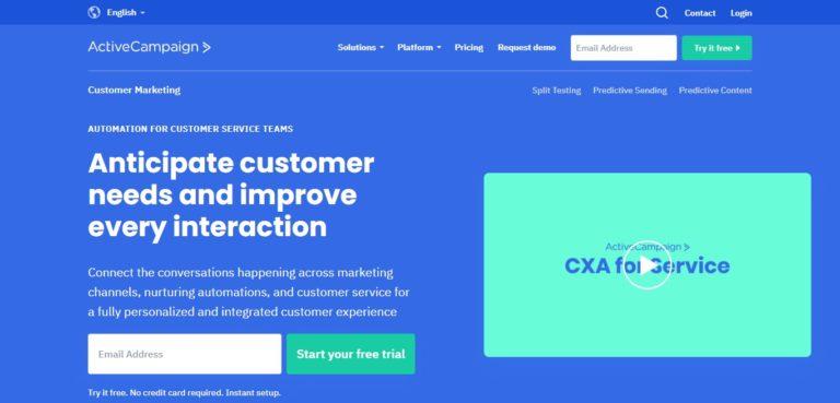 ActiveCampaign customer marketing