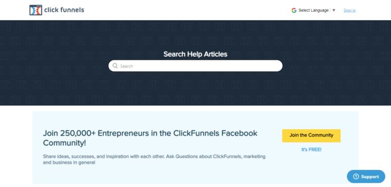 ClickFunnels customer support