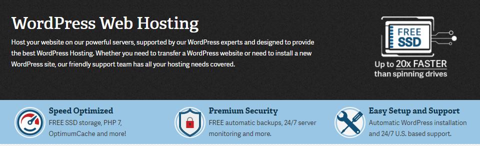 InMotion Hosting's homepage.