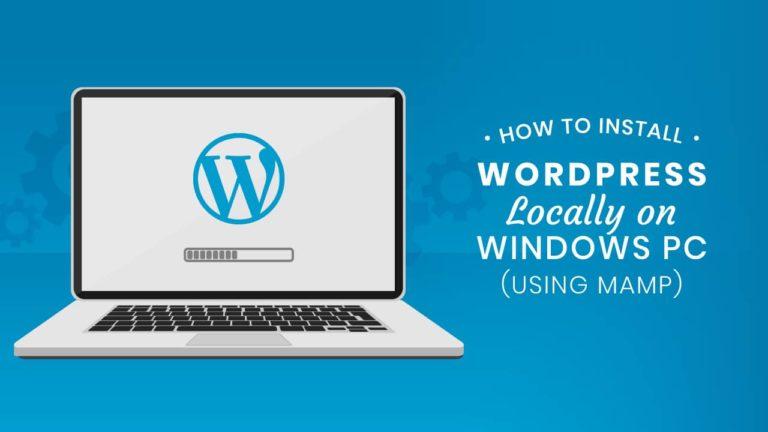 Install WordPress locally on Windows using MAMP featured image