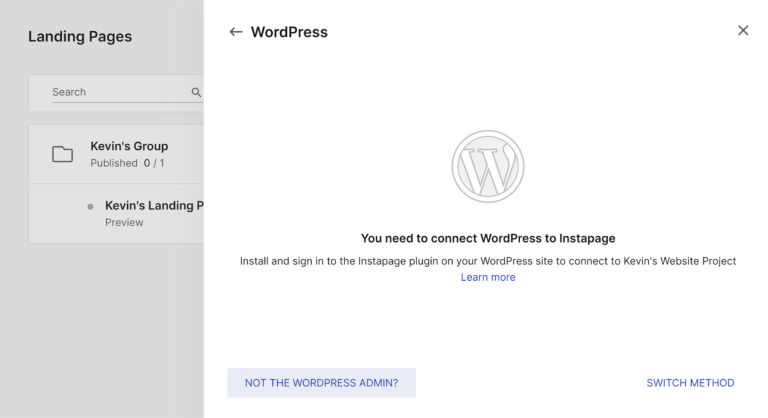 Not the WordPress Admin