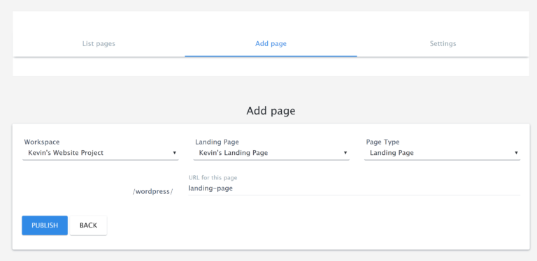 Add Page in WordPress
