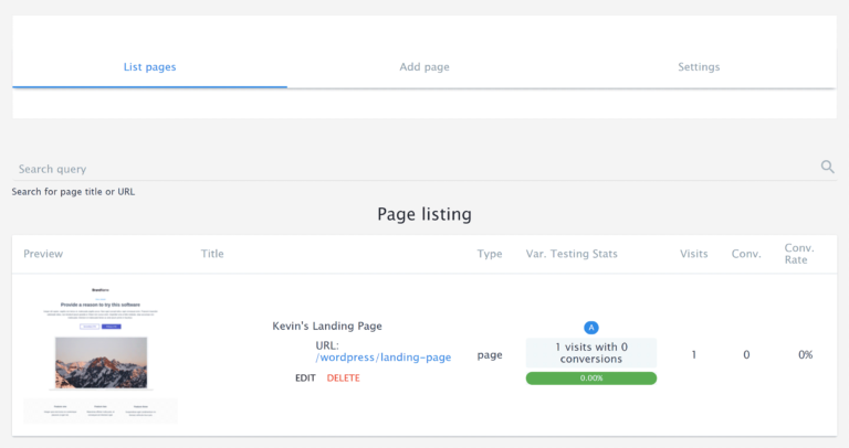 Instapage Landing Pages List