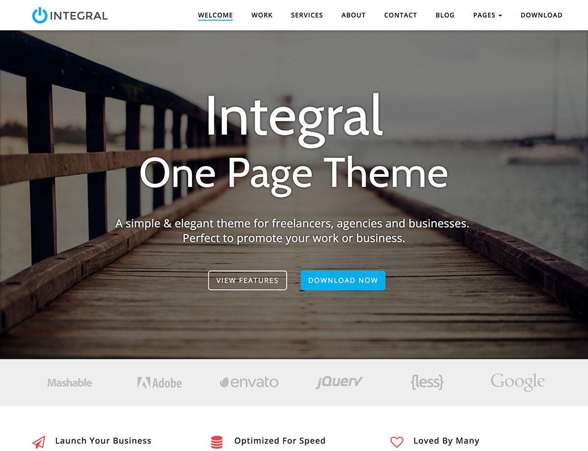 integral-free-one-page-wordpress-theme