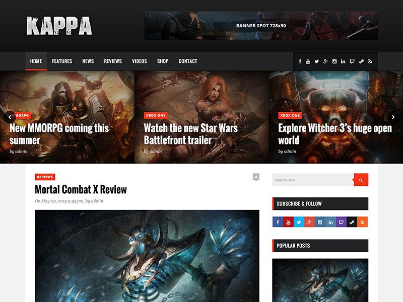 kappa-gaming-wordpress-theme