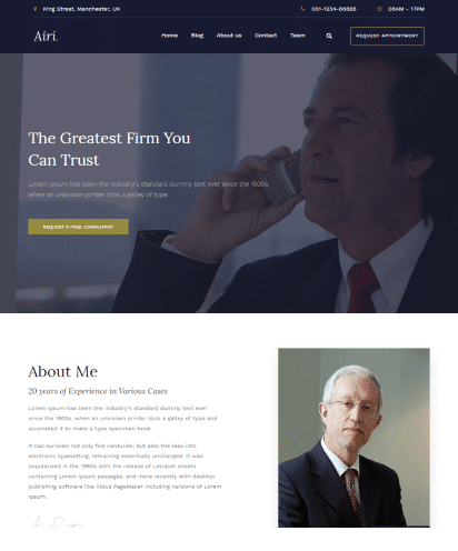 Lawyer template demo