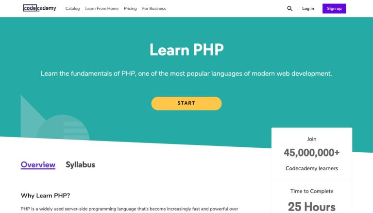 Learn PHP Codecademy