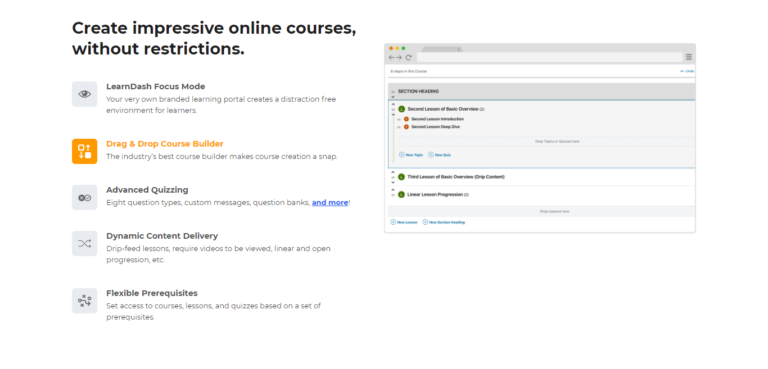 LearnDash course builder