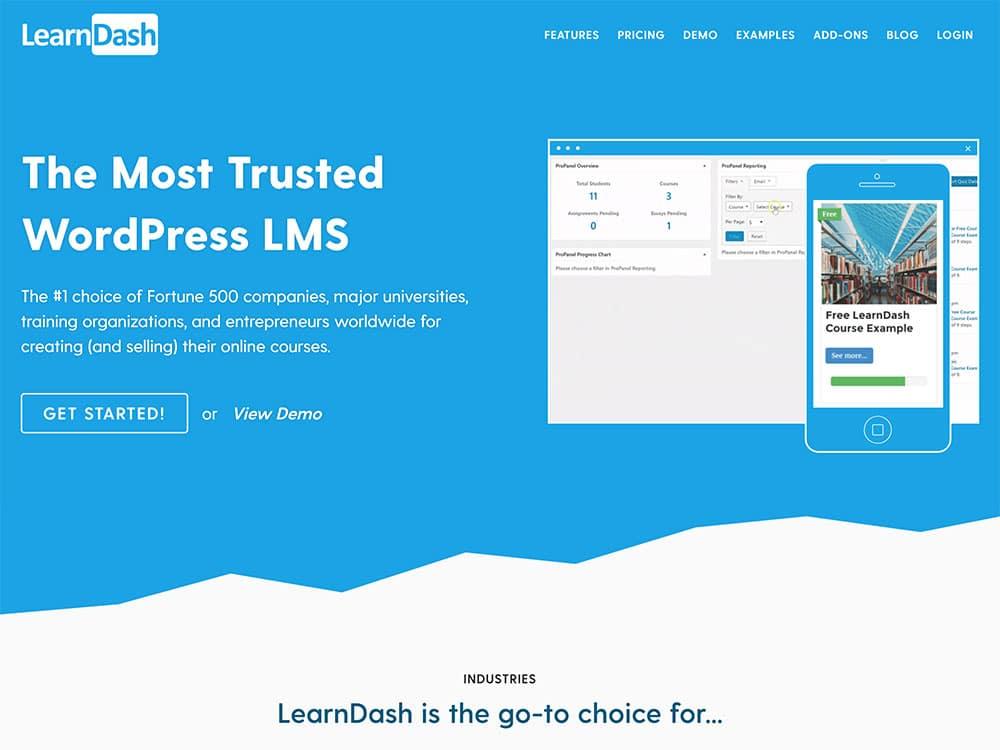 Learndash online course platform