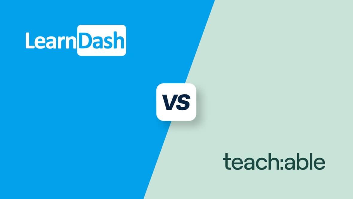 LearnDash vs Teachable, featured image