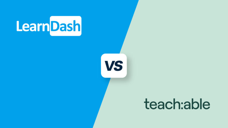LearnDash vs Teachable, featured image