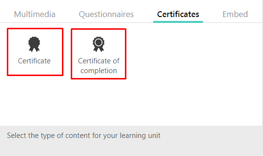 LearnWorlds certificates