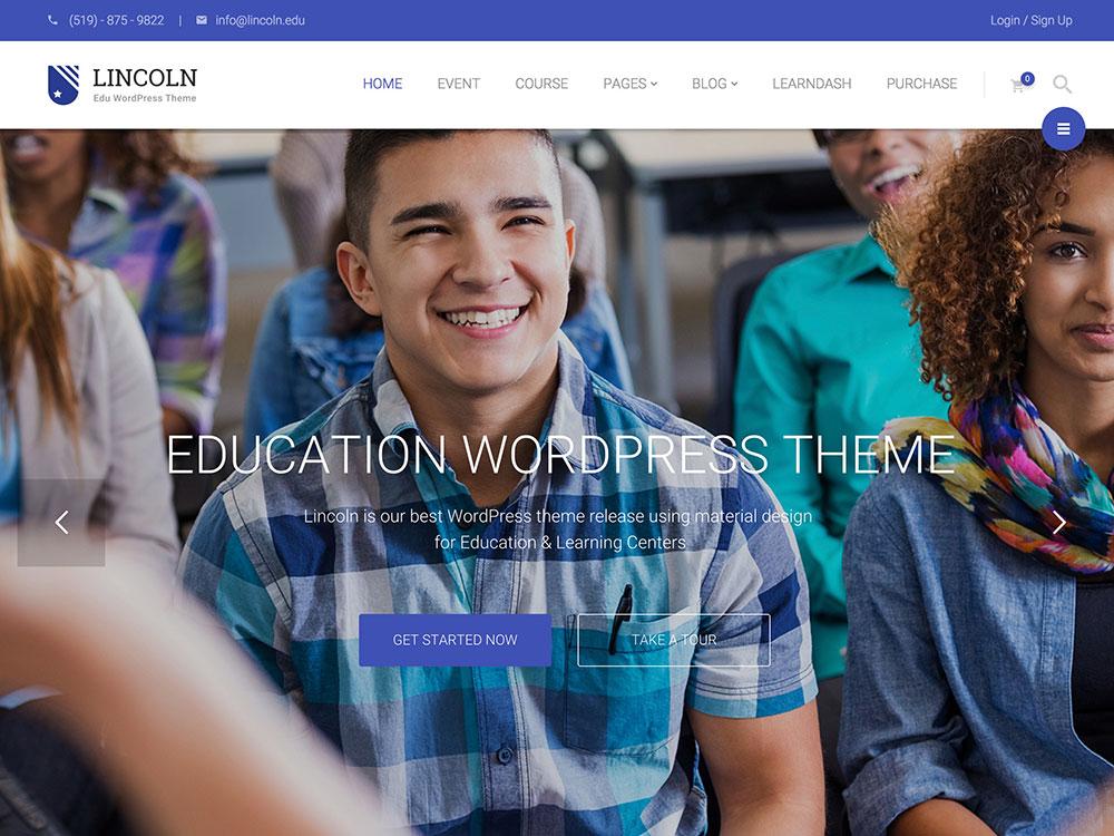 lincoln-education-wordpress-theme