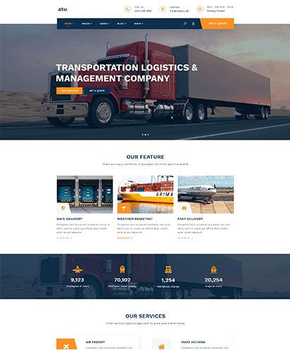 Logistics template demo