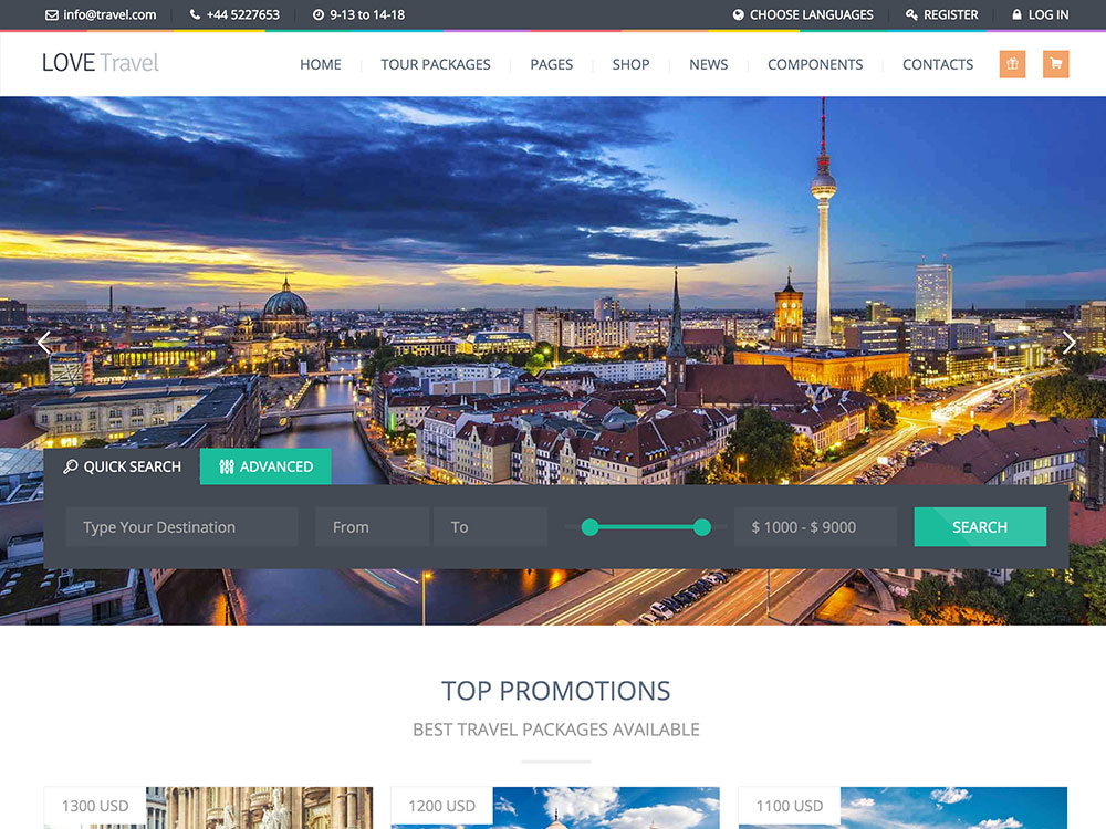 love-travel-agency-wordpress-theme
