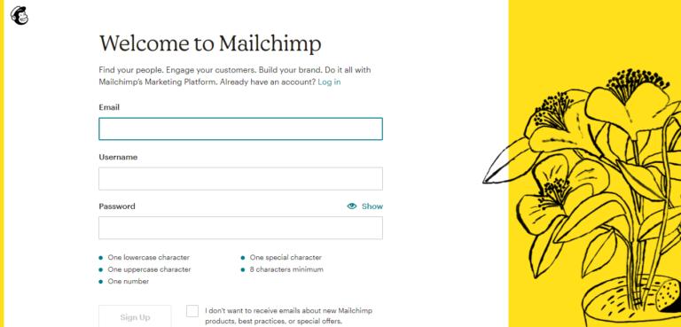 Mailchimp signup process