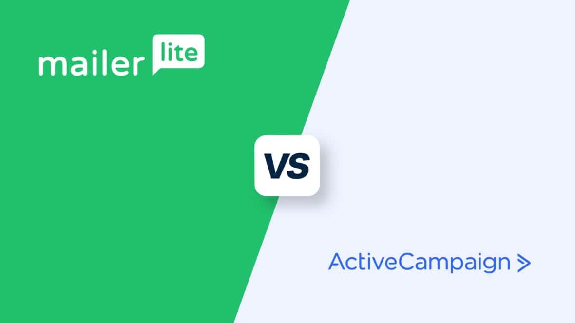 MailerLite vs ActiveCampaign, featured image