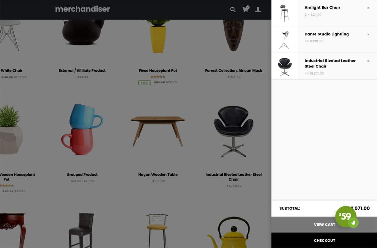 Merchandiser Shopping Cart