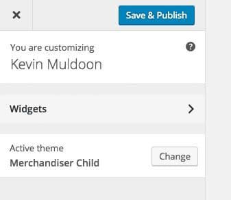 WordPress Theme Customizer with Child Theme