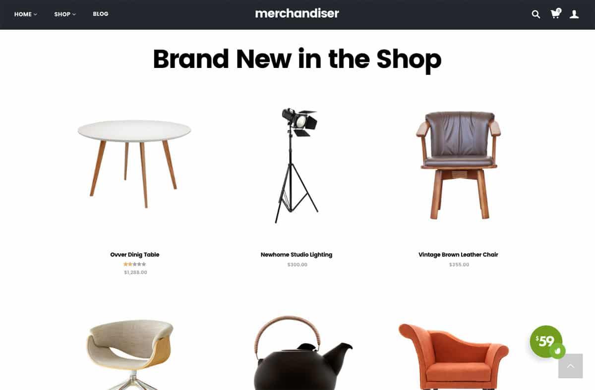 Merchandiser Home Page